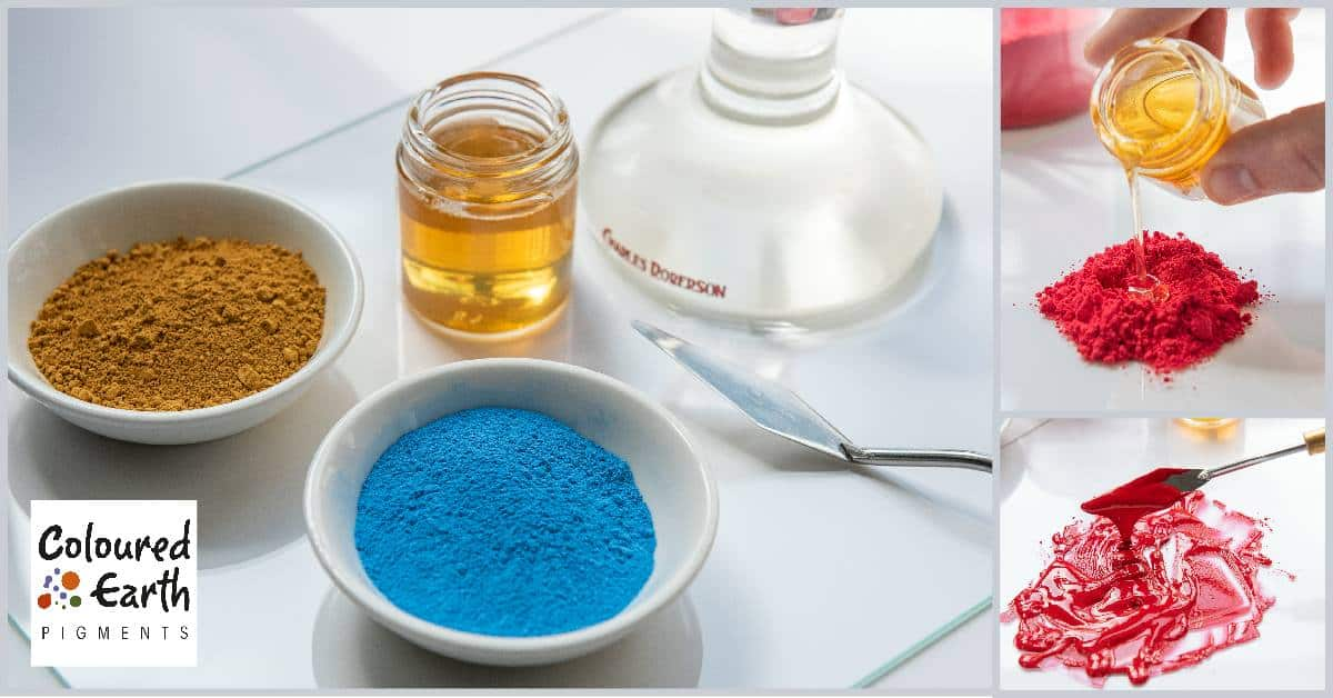 How to make Oil Paints using Coloured Earth Pigments