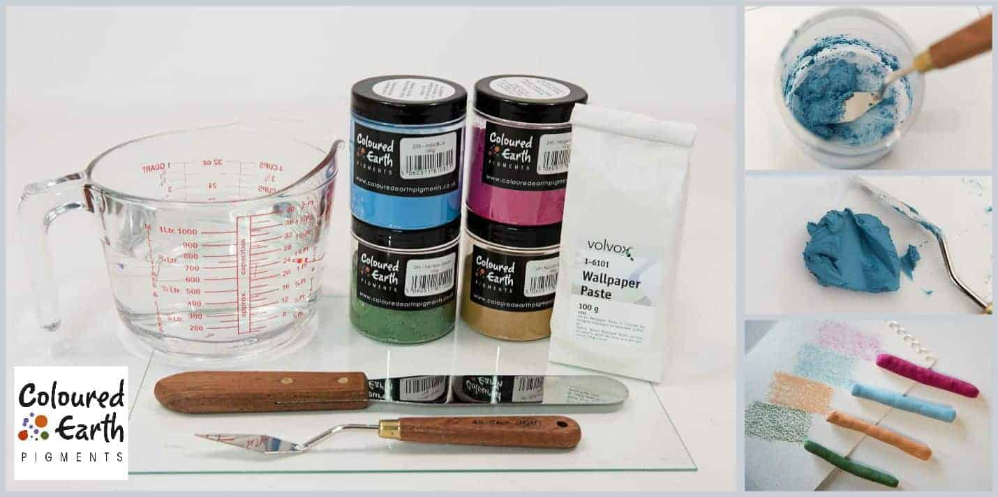 Step by Step Guide: How to make Artists Pastels using Coloured Earth Pigments